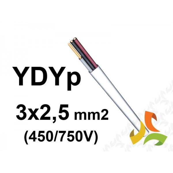 Przewód YDYp 3x2,5 mm2 - instalacyjny, płaski