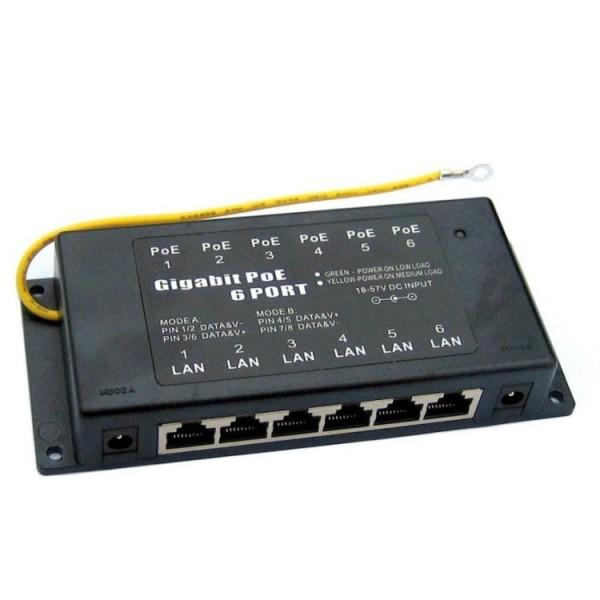 MaxLink passive Gigabit POE injector, 6 ports